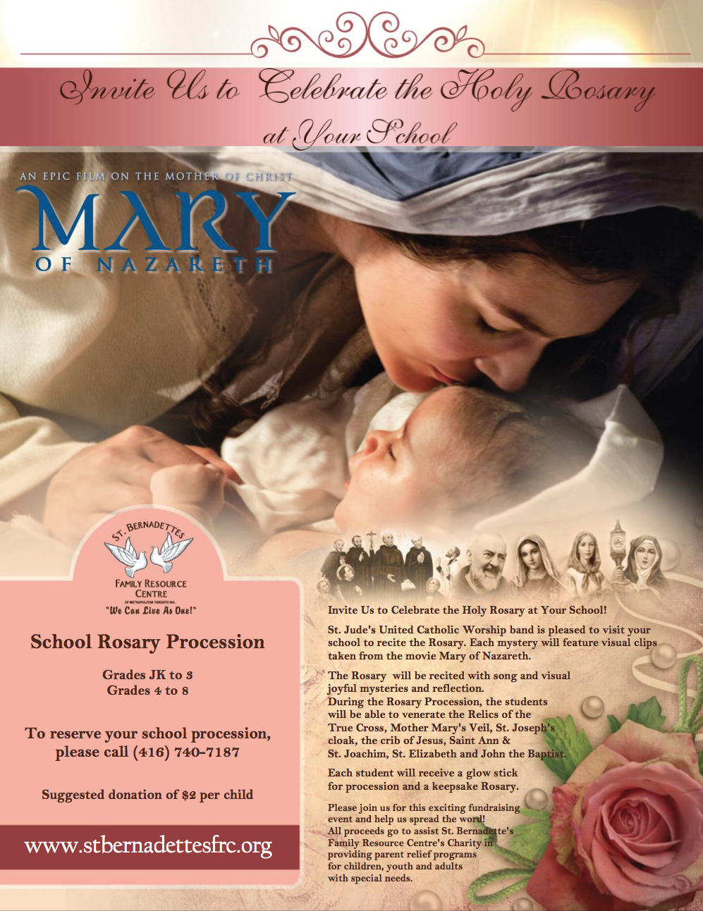 Mary of Nazareth - School Rosary Procession